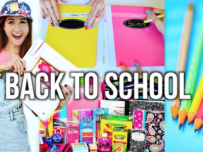 Back To School Supplies Haul 2014 + DIY School Supplies!