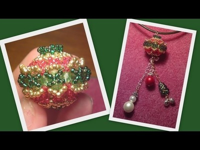 Beaded Bead Christmas Beading Tutorial by HoneyBeads1 (Photo tutorial)
