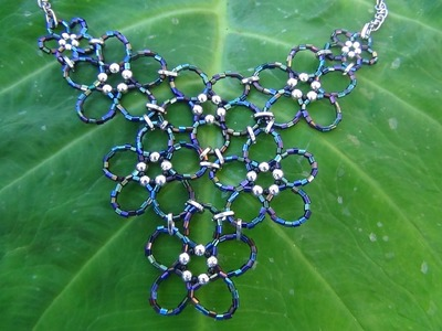 Beaded Flower Cluster  Necklace Tutorial Part 3