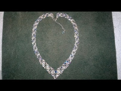 Beading4perfectionists : V- Necklace with Swarovski beginners beading tutorial (pics version)