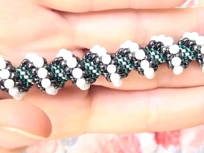 BeadsFriends: Beading tutorial - How to make a Cellini spiral using beads and drops