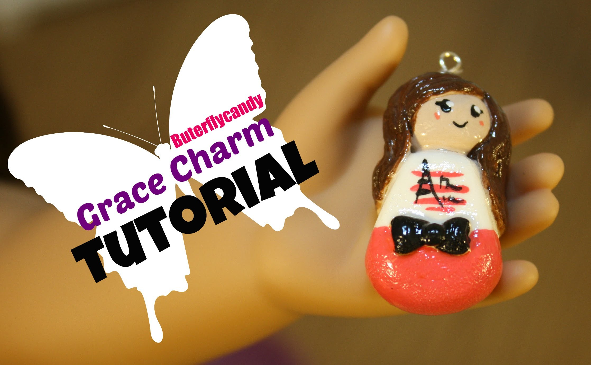 Charm Tutorial   American Girl Grace   GOTY 2015   Polymer Clay   How to Make   Craft Idea