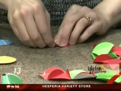 CraftSanity on TV: Making Christmas decorations out of recycled materials