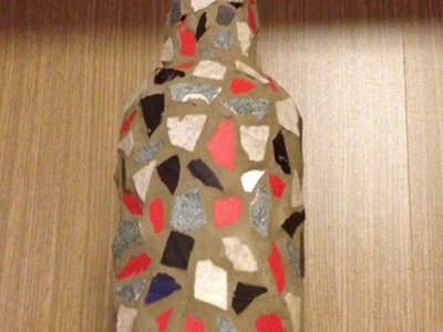 Create a Cool Mosaic Wine Bottle - Crafts - Guidecentral