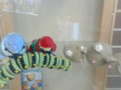 Crochet and knitting  Display at my local library
