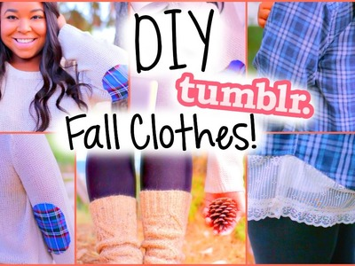 Cute & Easy DIY Fall Clothes! Inspired by Tumblr!