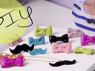 DIY Accessories: How to Make a Cute Bow Ring & Mustache Necklace