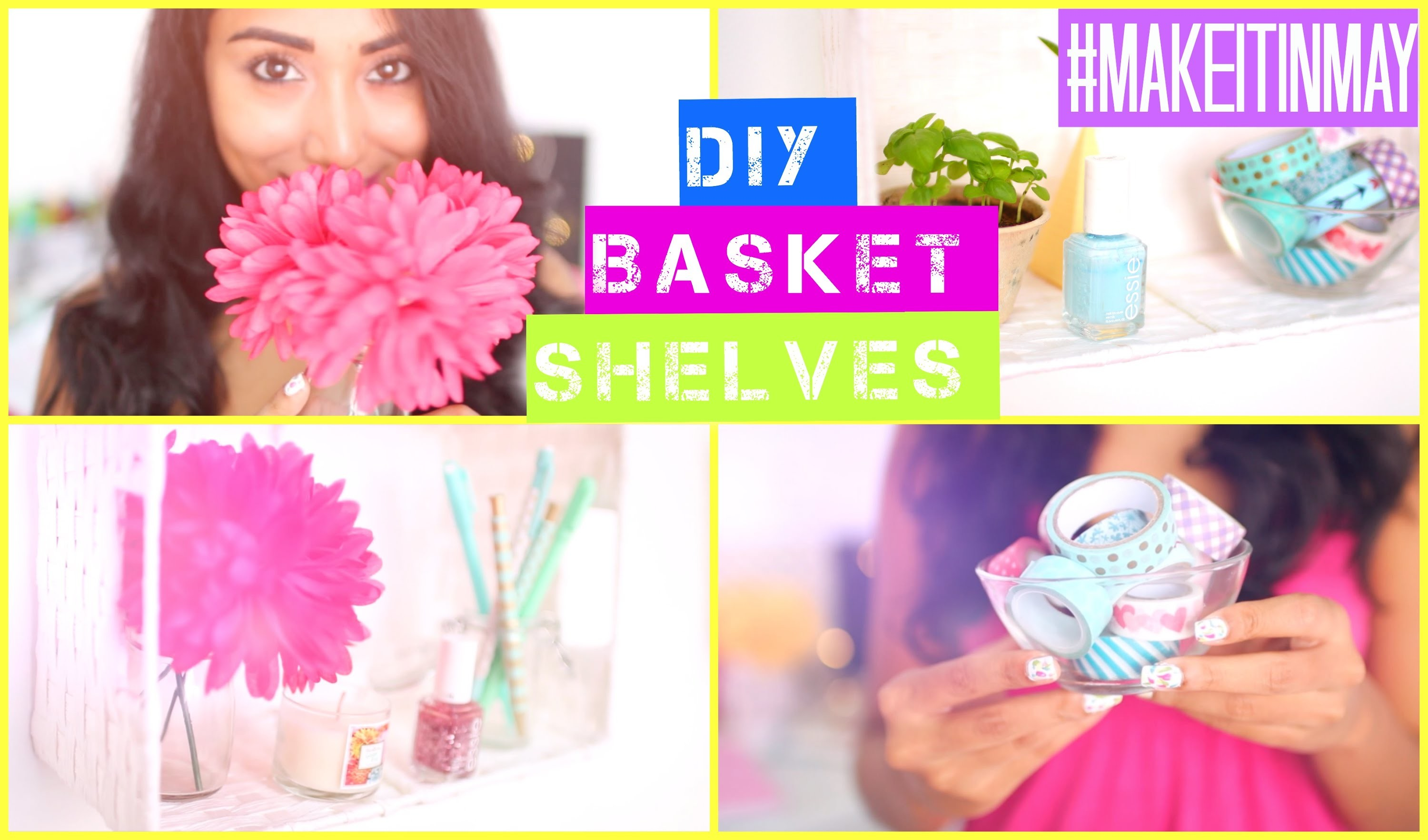 DIY Basket Shelves | #MAKEITINMAY 2015