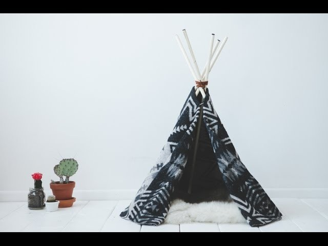 DIY cat tipi !!  or for any pet really :)