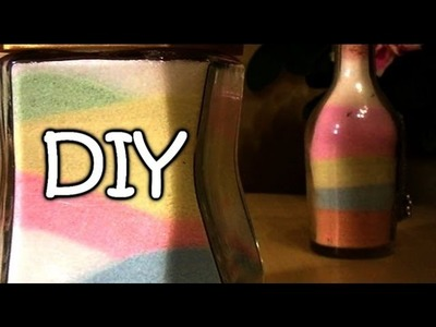 DIY Colored Salt Made With Colored Chalk - Sand Art - Creative Decor Ideas
