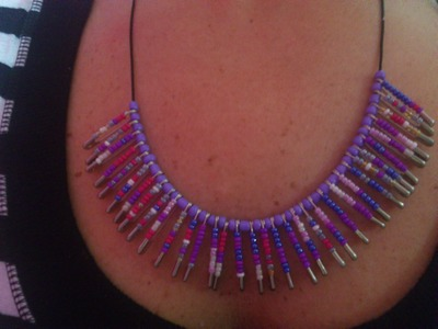 DIY: Easy Safety Pin Necklace with Beads