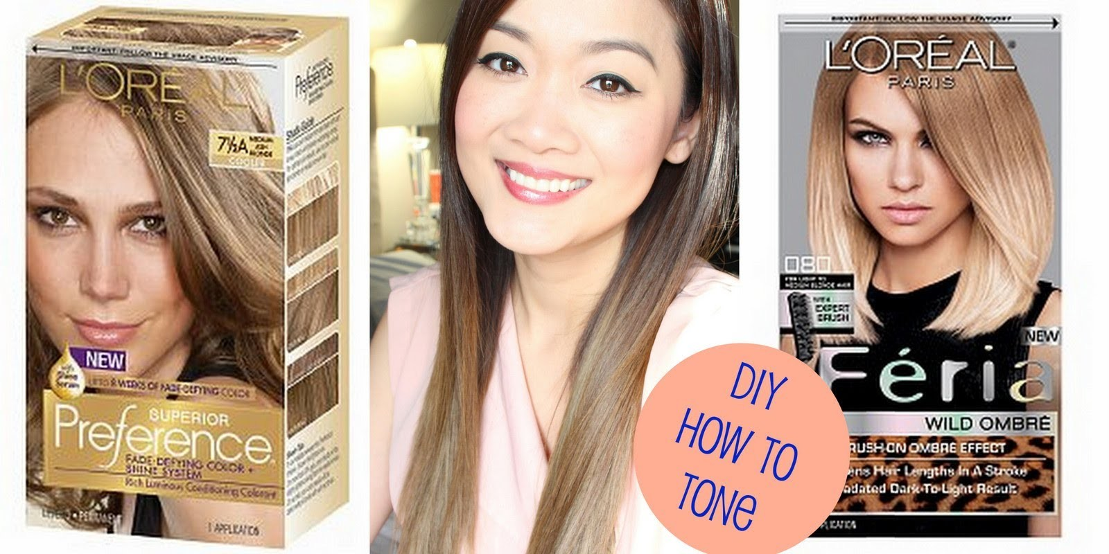 DIY : How to Tone Brassy Hair (after using Loreal Feria Wild Ombre)