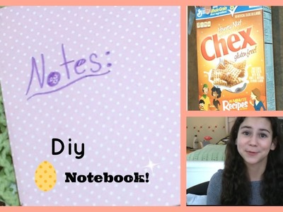 Diy Notebook From a Cereal Box ~ Easy Project!