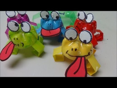 DIY Recycling Projects for Kids: Crazy Jumping Frogs Parade