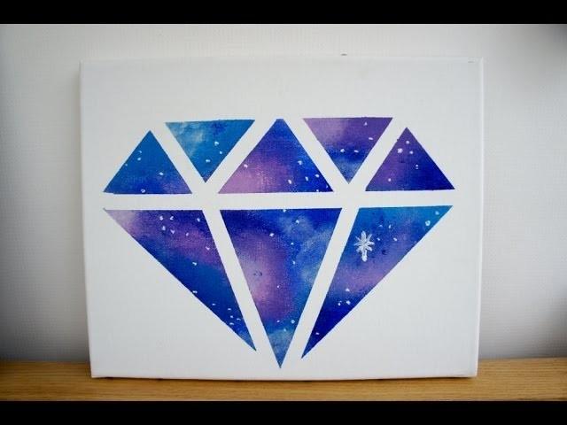 DIY Room decor: Galaxy diamond painting