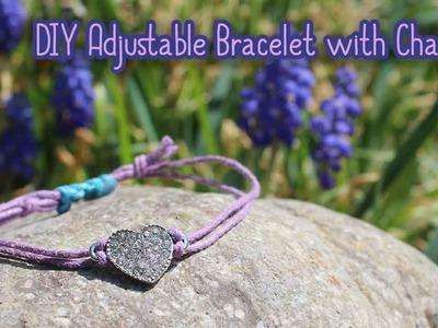 DIY Simple Adjustable Bracelet with Charm