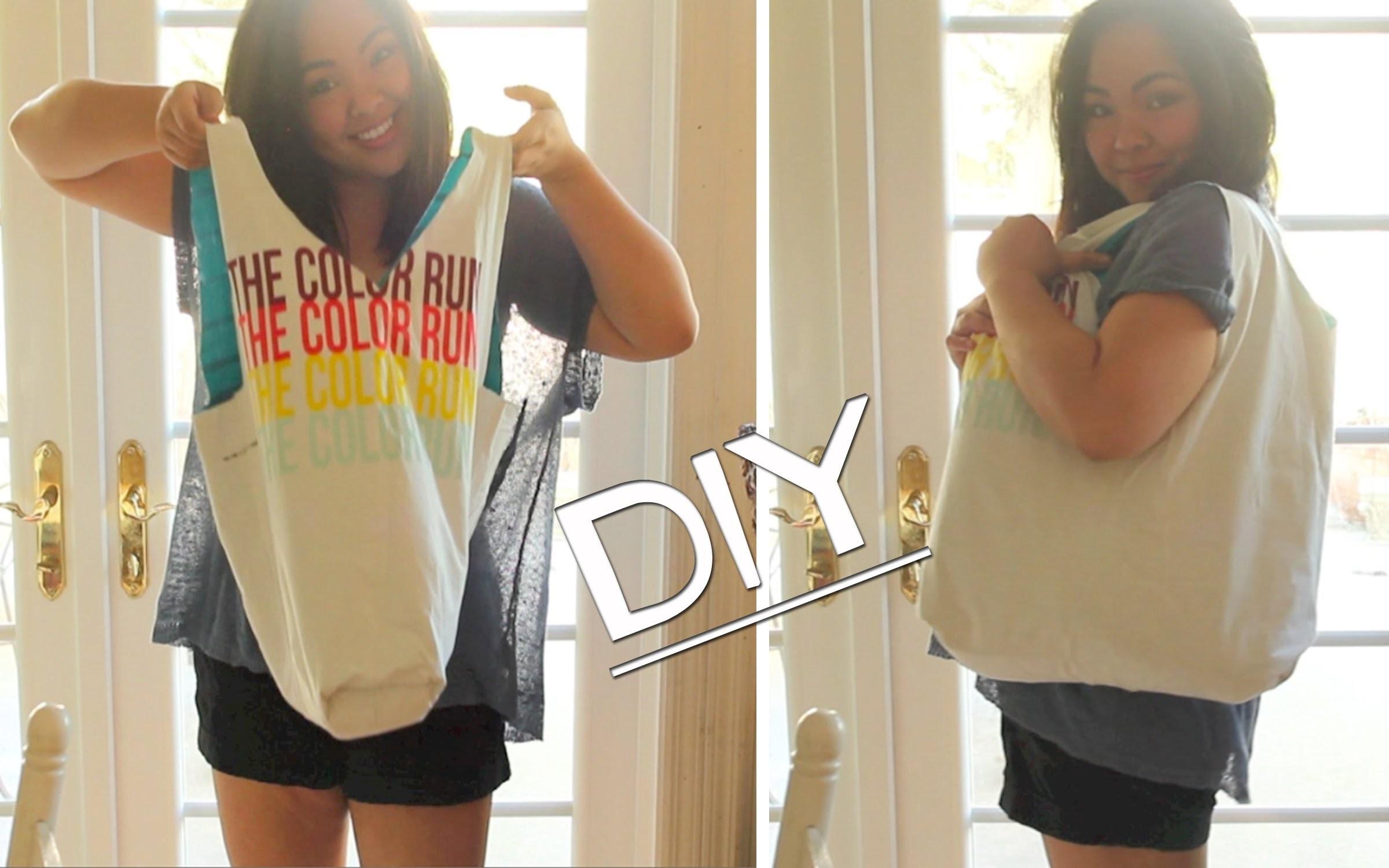 DIY! T-Shirt Tote Bag *No Sew*