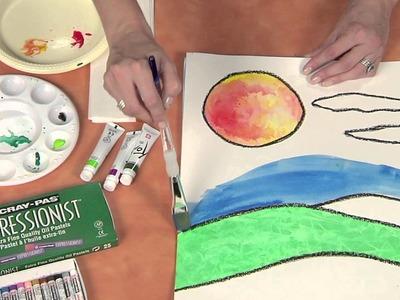 Hands on Crafts for Kids: Cray-Pas Oil Pastel Resist Technique