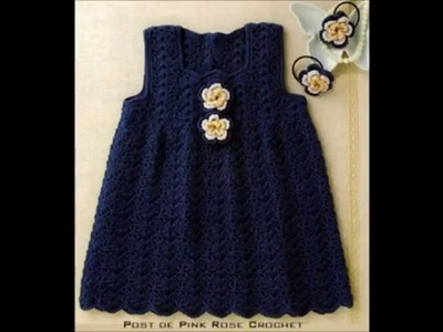 How to Crochet a baby dress easy