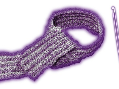 How to crochet a scarf - ribbing - tutorial