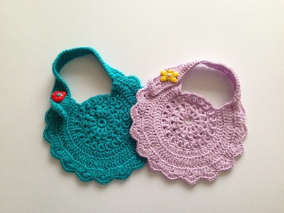 How to crochet baby bib motif 2