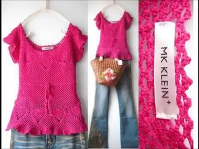 How to Crochet Blouse,Pink Free Pattern