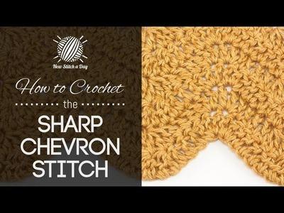 How to Crochet the Sharp Chevron Stitch