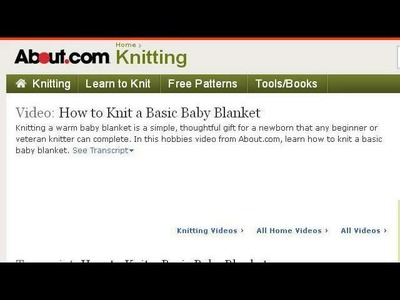 How-To Knit A Blanket
