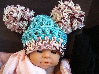 How to make a cute pom pom hat.