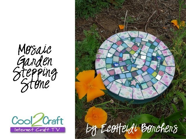 How to Make a Mosaic Stepping Stone by EcoHeidi Borchers