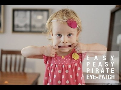 How to make an Easy Felt Pirate Eye Patch. Halloween Custom DIY Accessory