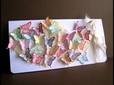 How to make Butterfly wedding card -Natalie's Creations