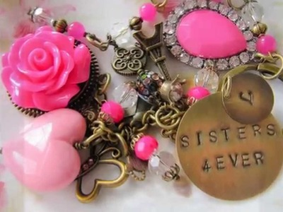 Jewelry tutorials, necklaces, earrings, bracelet, vintage style and romantic