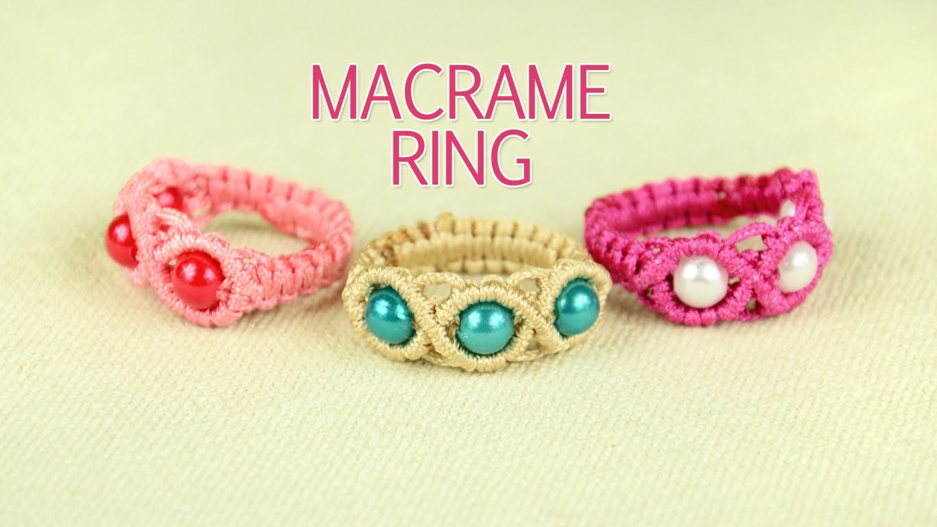 Macrame Ring with Beads - Tutorial
