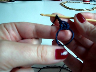 Magic ring, double crochet 3 together stitch.MP4