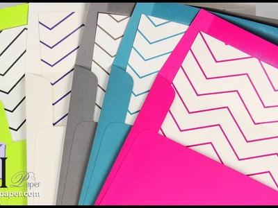 Make (DIY) Pop'Set Invitation With Chevron Pattern Envelope Liners