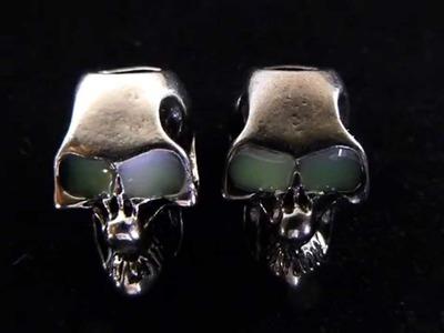 Night Stalker Skull Beads With Glow In The Dark Eyes