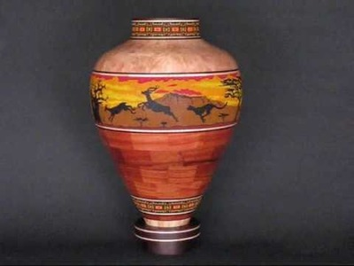 """On Safari""   a segmented wood turning by Eucled Moore"