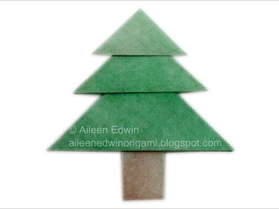 Origami Christmas Tree (Aileen Edwin) Dual-Coloured Version Video Tutorial *HD*