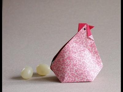 Origami Hen video Instructions -Gallina en origami