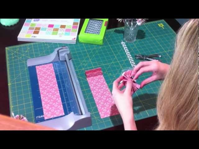Quick Crafts with Brittany Spriggs: Fan Flower Straws