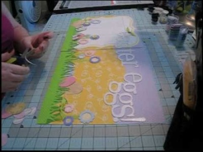 Scrapbook Layout, 12x24: Easter Eggs, Part 2