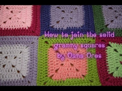 Solid granny squares- joining as you go