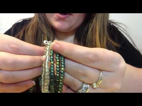 Stretchy Seed Bead Cuff Bracelet DIY December Day 15