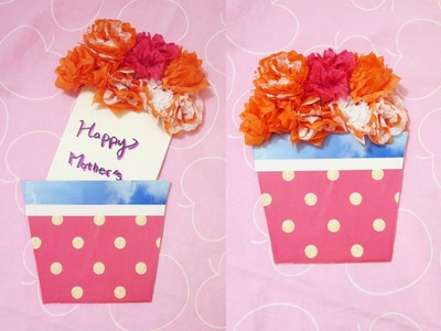 [Sunny DIY] Mother's Day Gift Idea DIY- Flower Bouquet Gift Card