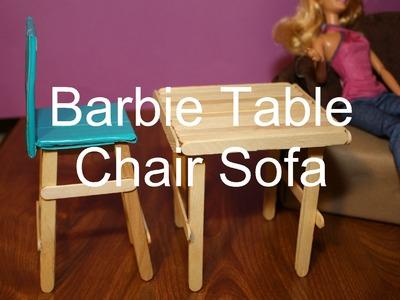 Super Easy Barbie Doll Furniture Craft Popsicle Sticks for Kids