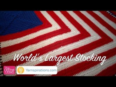World's Largest Crochet. Knit Christmas Stocking Challenge