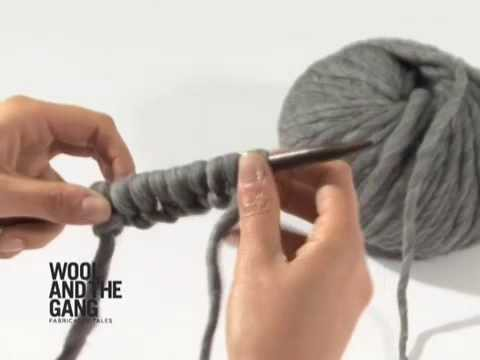 10 casting on with the thumb - Knitting Tutorials by Wool and the Gang