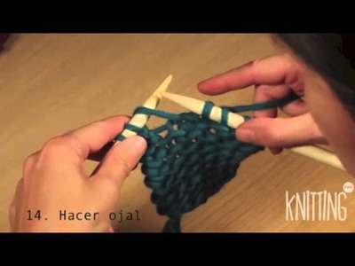 14. How to create a Buttonhole. Learn to knit with Knitting Point.