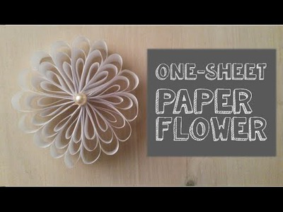 Art & Craft DIY:How to create a one-sheet paper flower